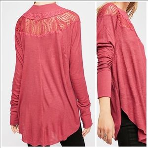 Free People Womens Spring Valley Henley Blouse S
